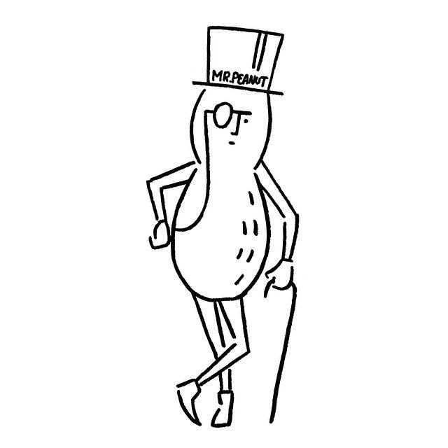 Mr.Peanut #mrpeanut #yunagaba #kaerusensei #art
