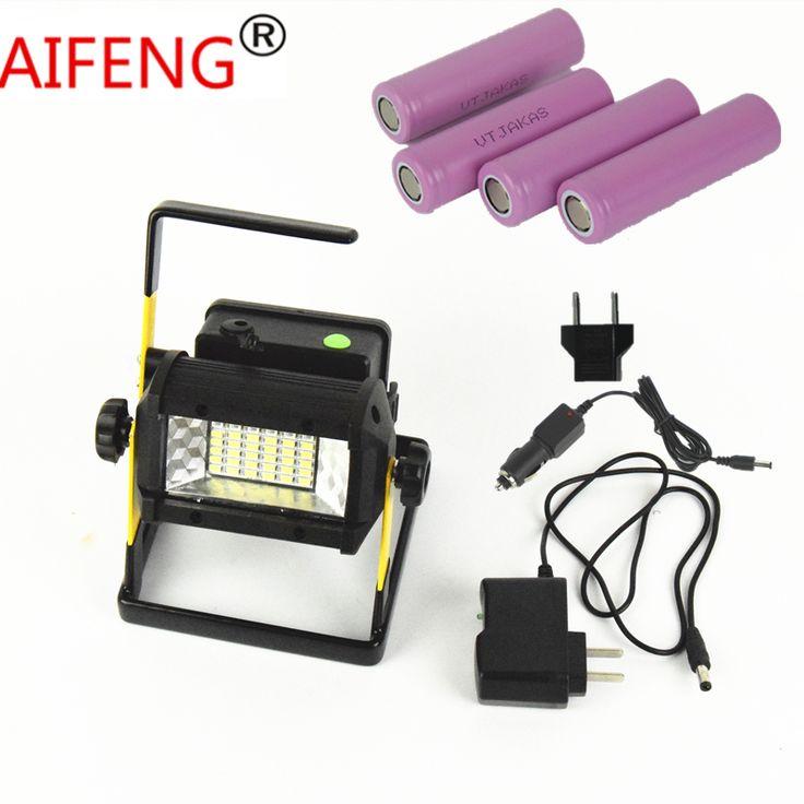 sale 50w 2400lm waterproof ip65 led flood light portable spotlights rechargeable t6 18650 car #hunting #spotlights
