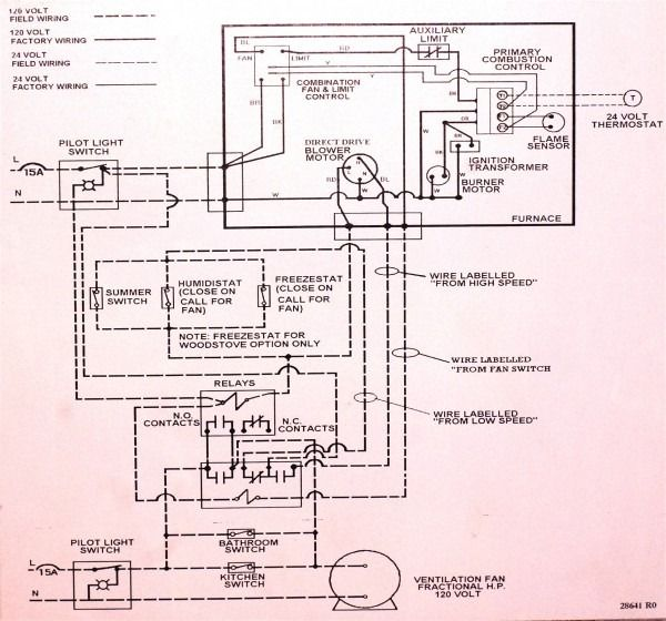 Older Gas Furnace Wiring Diagram on