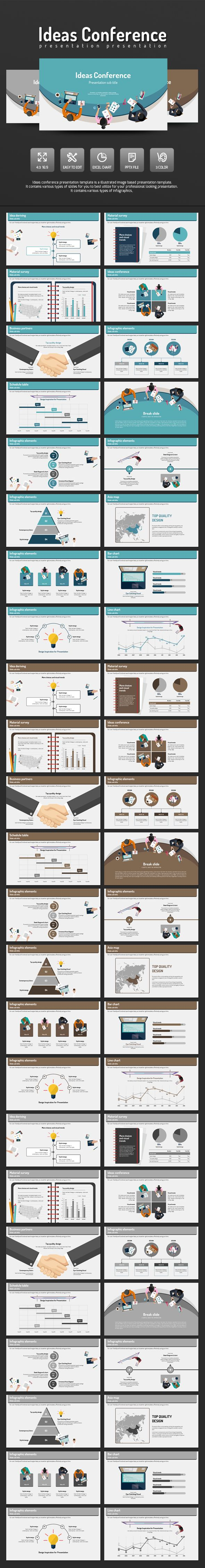 Ideas Conference PowerPoint Presentation Template #slides Download here: http://graphicriver.net/item/ideas-conference/14552958?ref=ksioks