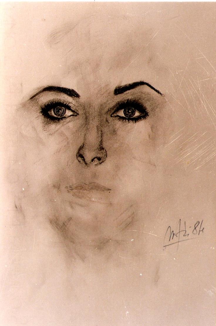 """""""Elizabeth Taylor"""" by Massimo Maffei 1984"""
