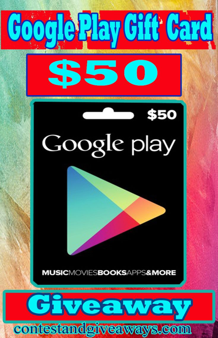 50 googleplaygift card giveaway google play gift card