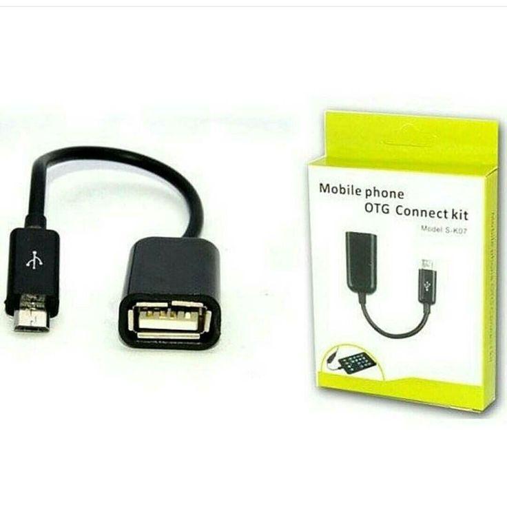 Kabel OTG Micro Kabel untuk menghubungkan smartphone atau perangkat lain dengan micro USB ke flash disk mouse keyboard atau media perangkat lainnya. Fitur tersebut difungsikan untuk pertukaran data atau interkoneksi dengan perangkat lain .  Dapat juga digunakan sebagai charger dan transfer data untuk blackberry samsung HTC powerbank dan perangkat lain yang menggunakan micro usb. . Harga: Rp 35.000 . Spesifikasi: Panjang kabel : 8 cm  Koneksi : microUSB ke standard USB  Support untuk semua…