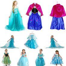 2015 einzelhandel Weiß Schnee Von Queen Eis Prinzessin Sofia Anna Elsa Kleid Kinder Party Mädchen Kostüm, Kinderkleidung mädchen Kleid(China (Mainland))