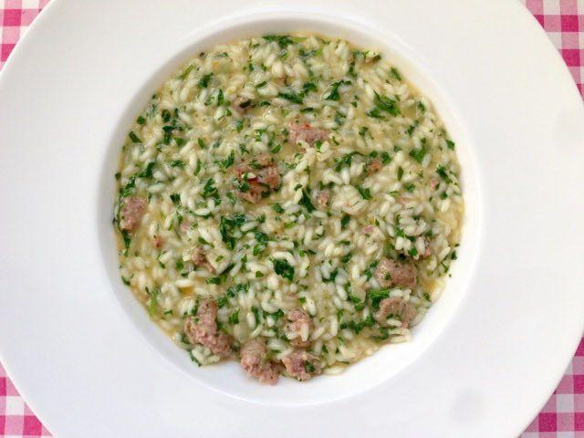 Risotto met rucola en gehakt | Bekijk dit lekkere risotto recept op Alles Over Italiaans Eten