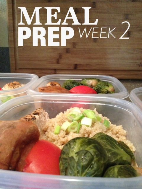 Meal Prepping following Jamie Eason's LiveFit plan