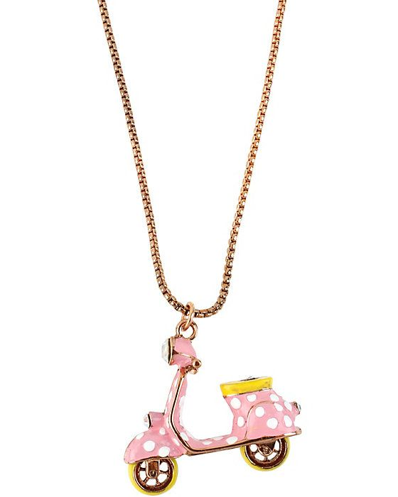POLKA DOT VESPA PINK PENDANT PINK accessories jewelry necklaces fashion