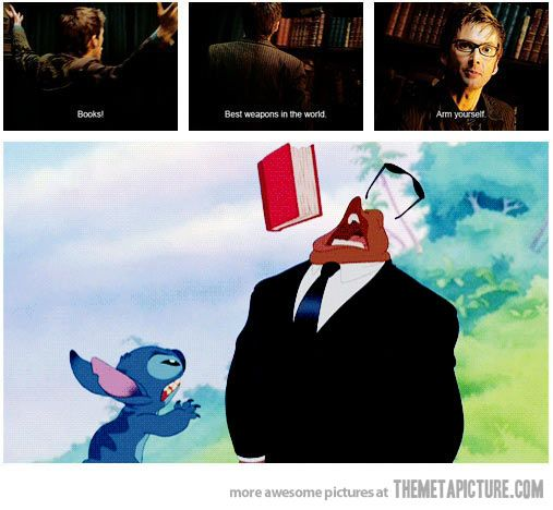 The truth about books...doctor who and Lilo and stich!