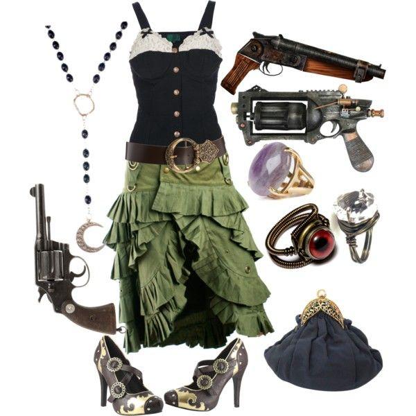 """Steampunk witch zombie hunter"" by wrenniegunnerway on Polyvore"