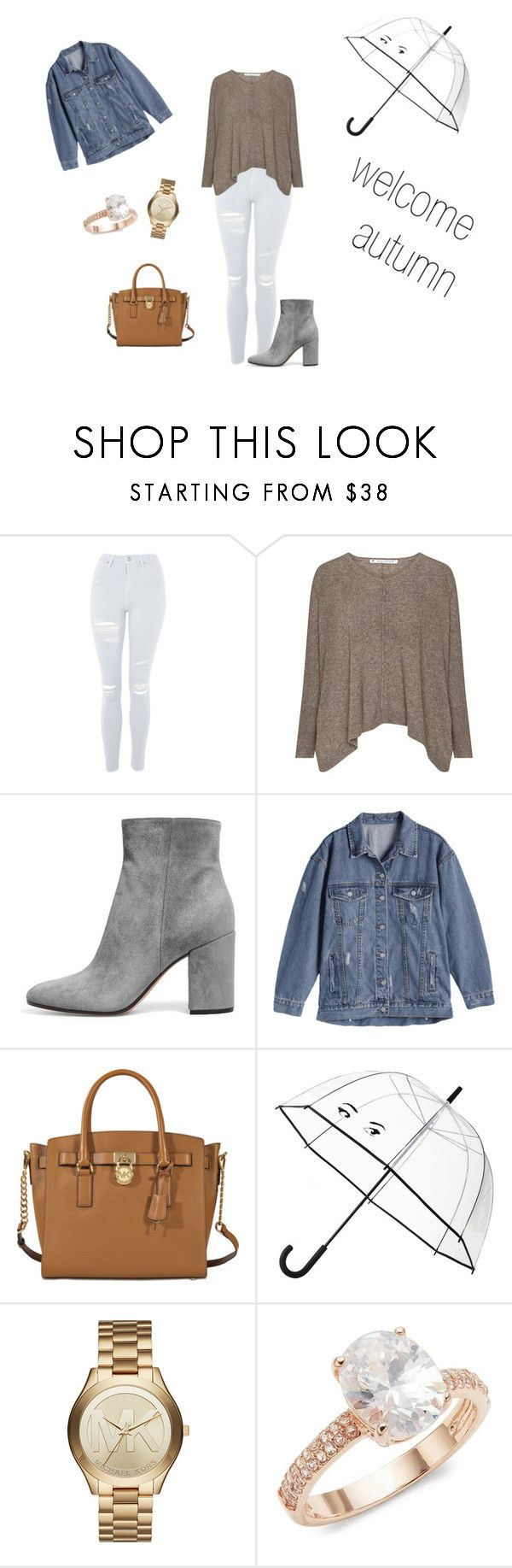 """Untitled #288"" by natalyholly on Polyvore featuring Topshop, MICHAEL Michael Kors, Kate Spade, Michael Kors and Saks Fifth Avenue"