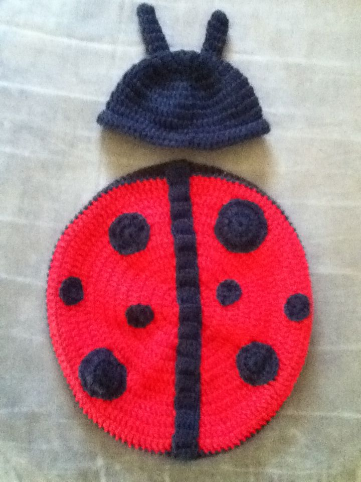 Lady bug outfit prop for newborn photography