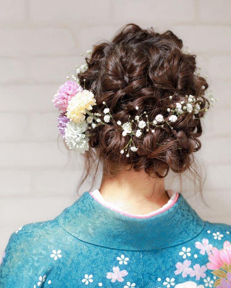 和装にも合うかすみ草の「ブライダルヘア・髪型」まとめ | marry[マリー]