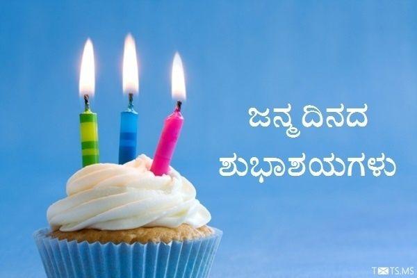 Kannada Birthday Wishes With Birthday Cupcake Birthday Wishes