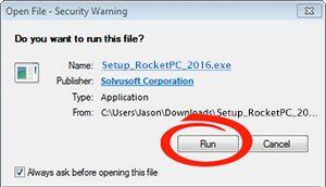 RocketPC is Downloading...