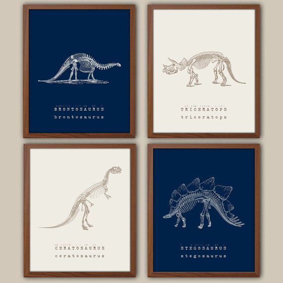 Paleontology Art for kids Boys Nursery Art Kids by iNKYSQUIDKIDS