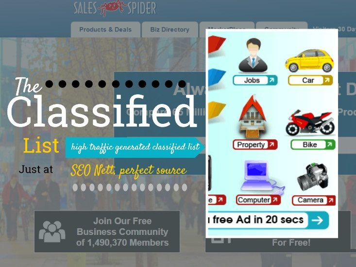 List of #indianads #Classifiedsites. Visit there and build account to promote your products or services world wide.