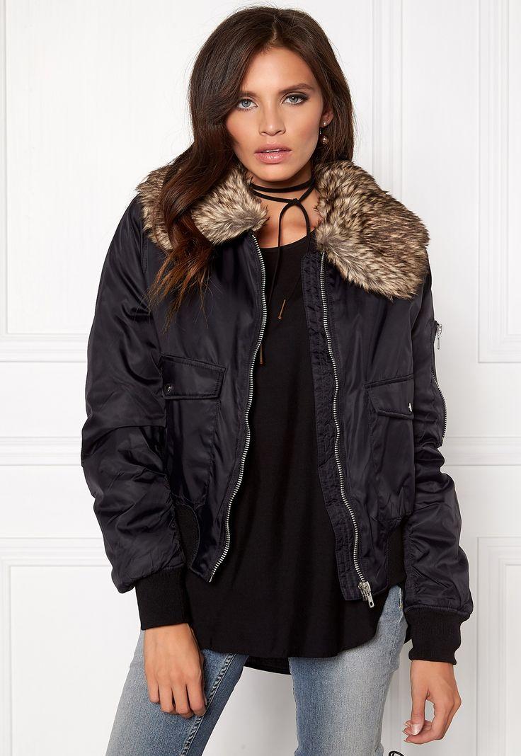 Rut & Circle Kate Fur Collar Jacket 001 Black str. M