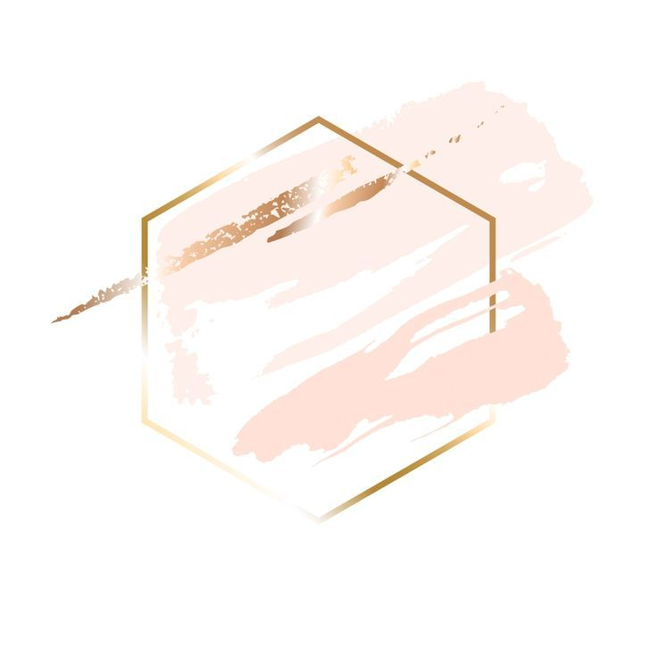 Goldene lineare Bienenwabe und Pfirsich, Puder, go…