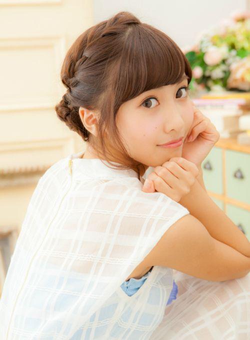 【ミディアム】編み込みアップスタイル/linette 横浜の髪型・ヘアスタイル・ヘアカタログ|2015秋冬