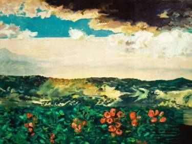 "Saatchi Art Artist Anna Kefaloyianni; Painting, ""fields"" #art"