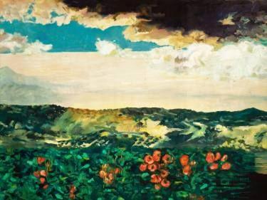 """Saatchi Art Artist Anna Kefaloyianni; Painting, """"fields"""" #art"""