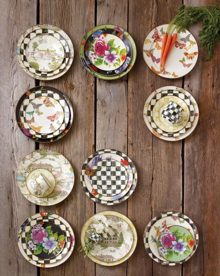 Mix it up with MacKenzie-Childs! – Mix n' match for a fun and eclectic table!   @MacKenzie-Childs