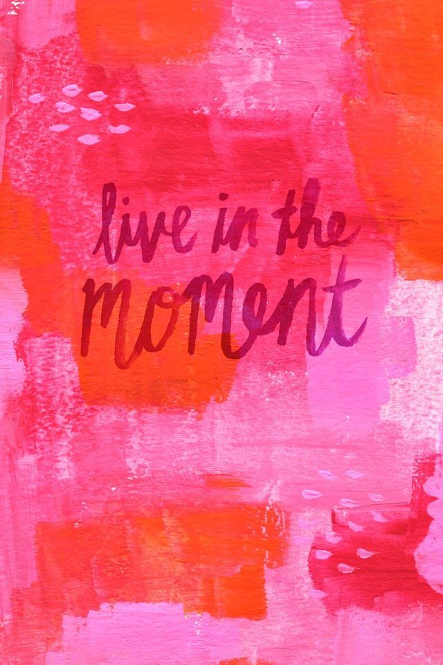 live in the moment quote pink printable.