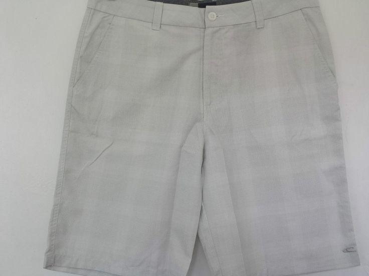 O Neill Shorts Mens Beach Plaid, 36 Waist. Colour White