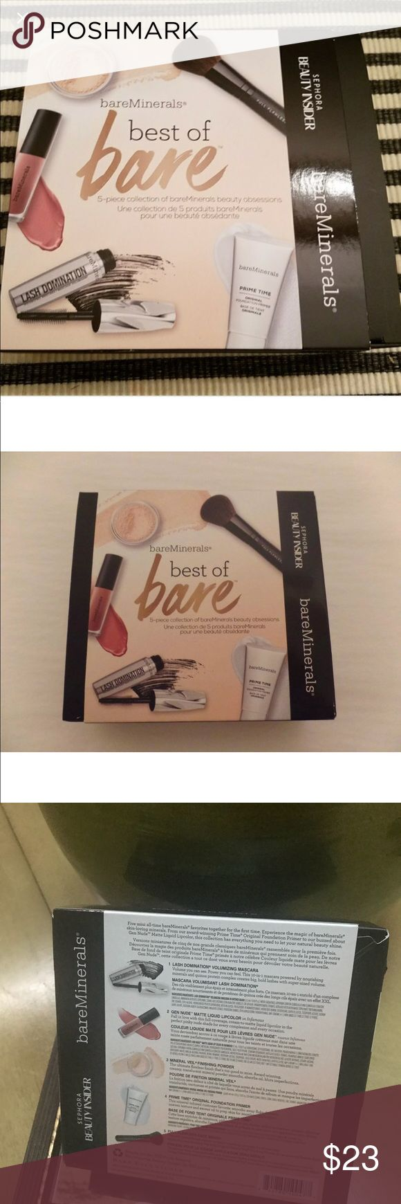 Bare minerals gift set Brand new never used just got it. Not a bare minerals person. bare minerals Makeup