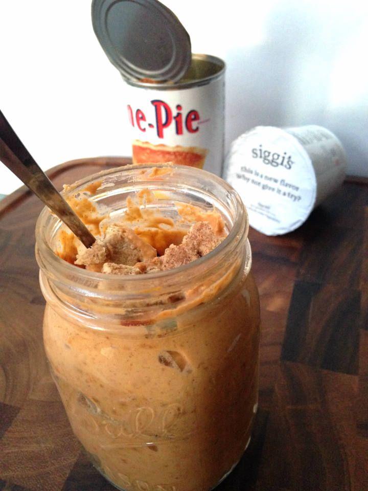 Pumpkin Dirt Pie + Siggi's GIVEAWAY! - Sinful Nutrition