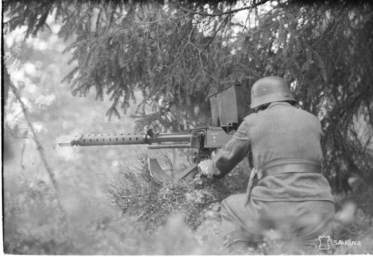 A Finnish soldier fires a Lahti L-39 20mm anti-tank rifle, 28 July 1941. The L-39 weighed 50kg and was one of Finland's main anti-tank weapons. Over 1900 were built in Finland throughout the Second World War.