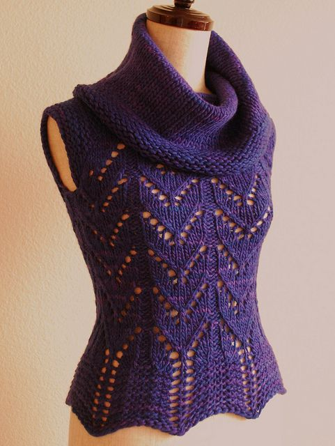 Knitted Bliss: Modification Monday: Purple Mystery Top