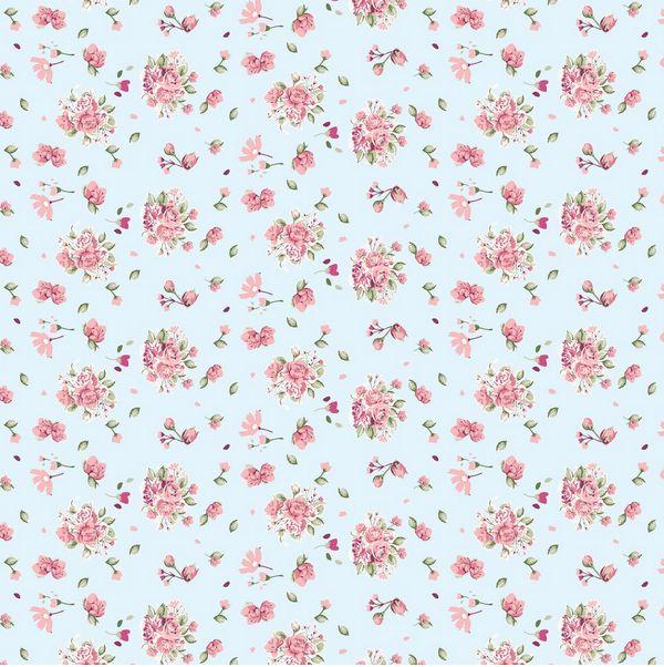 papel floral azul e rosa  Pesquisa Google  Vintage