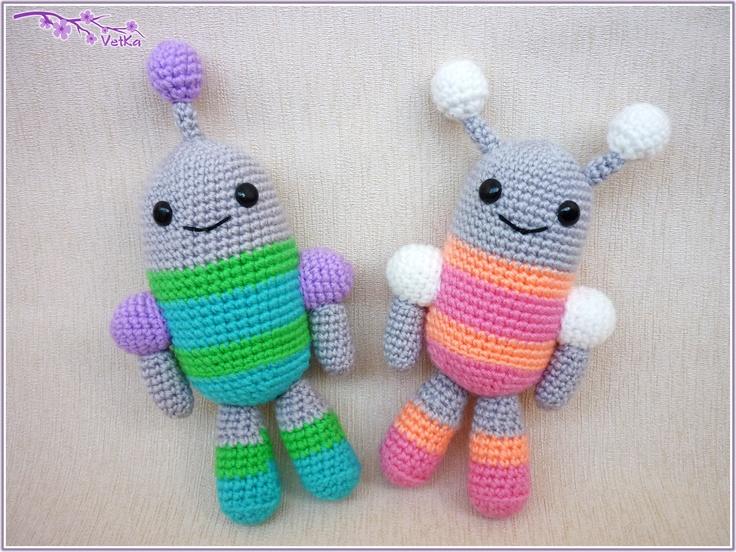Amigurumi Monster Pattern Free Crochet : Best amigurumi monsters robots images
