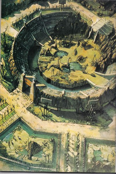 Jurassic Park : San Diego concept art, as seen in The Lost World : Jurassic Park