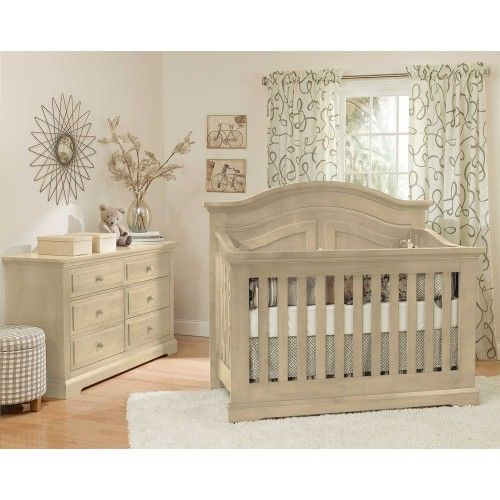 Brand New Munire Chatham Convertible Crib In Driftwood Finish! Rustic Crib Nursery ...
