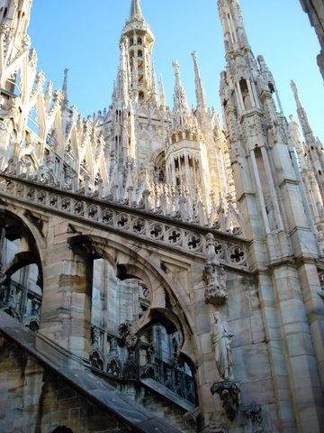 Roof of Duomo in Milano, Italy