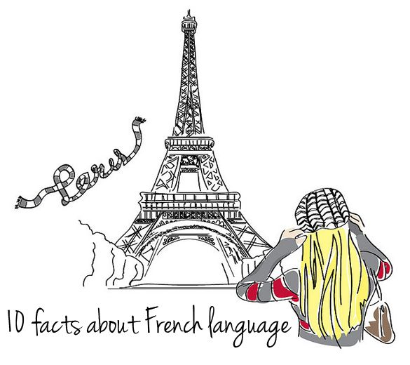 10 facts about French language.  Good, until the last one. That's false. The French language is completely predictable from its orthography.