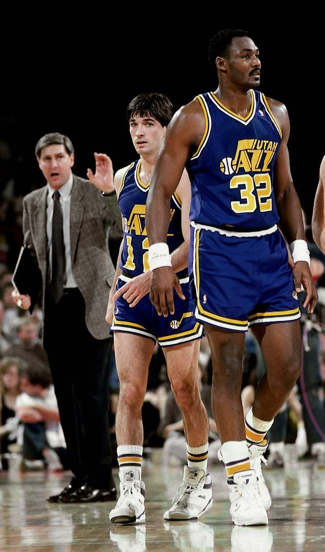 Coach Jerry Sloan, John Stockton and Karl Malone... now THIS WAS THE JAZZ!!