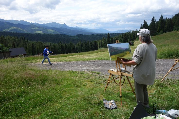 I like to paint in the open air.