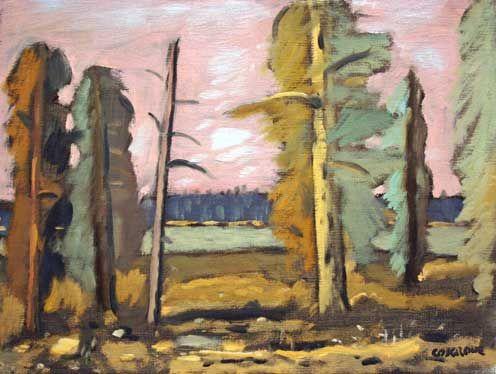 Stanley Cosgrove (1911-2002) - Paysage au Ciel Rose