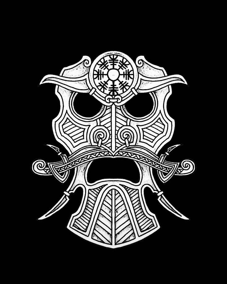сначала черепа викингов руны картинки образом, домик