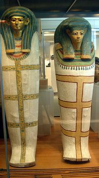 Coffin of Harmose. Egypt, New Kingdom, Dynasty 18 during the joint reign of Hatshepsut and Thutmose III, ca.1473–1458 BC. Wood, gesso, paint, gold   The Metropolitan Museum