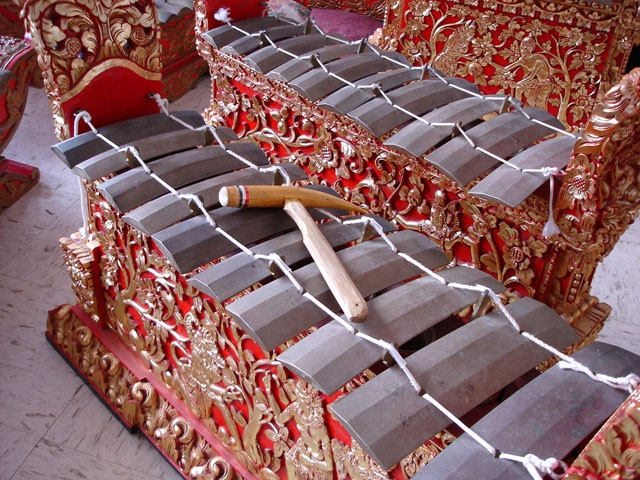 I got to play one of these today at a Balinese gamelan rehearsal! So excited for Indonesia!