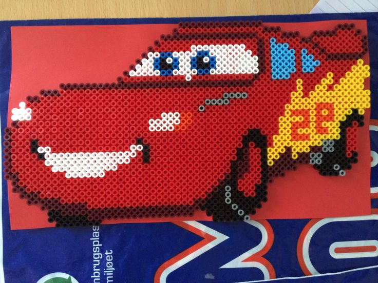 McQueen  Cars hama perler beads by Susse Cevin