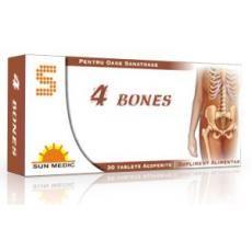 Complexul 4 Bones se administreaza ca supliment alimentar pentru creşterea aportului de calciu pentru menţinerea stării de sănătate a oaselor.