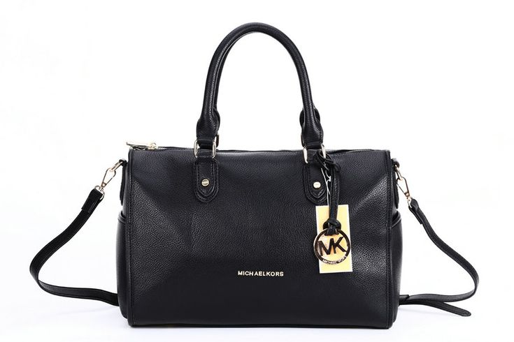 Michael Kors Collins Ultimate Luxe Medium Leather Satchel Black