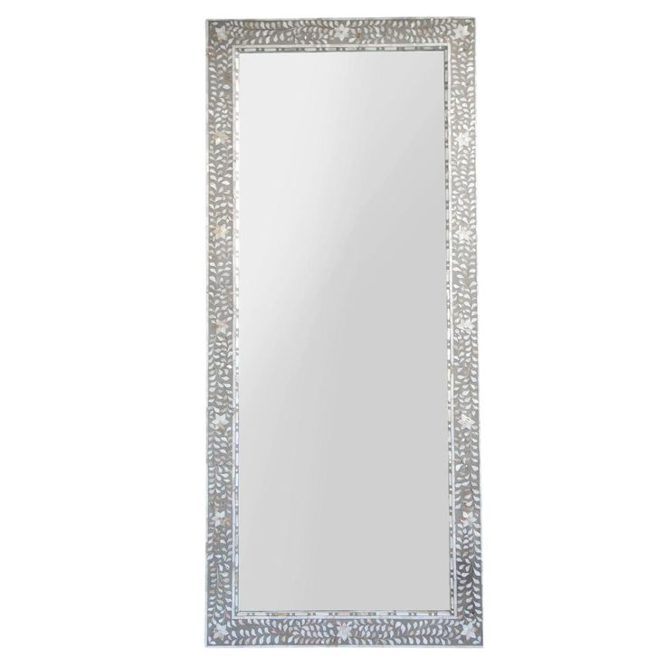 Inlaid Mother of Pearl Full Length Mirror on Chairish.com