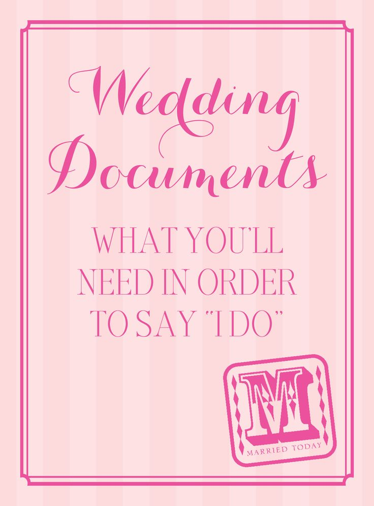 One of the most important components of a wedding is the marriage license. Invitations by Dawn shares advice on obtaining this authorizing document.