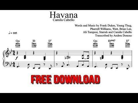 Havana Sheet Music Camila Cabello   Piano   Sheet music pdf
